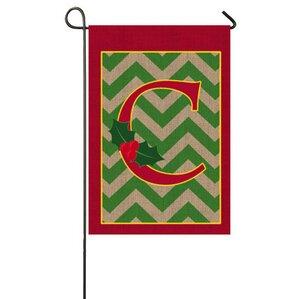 Holly Monogram Garden Flag
