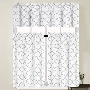 Larocca Trellis Kitchen Curtain Set By Winston Porter
