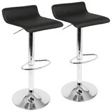 Camargo Swivel Adjustable Height Bar Stool (Set of 2) by Wade Logan®