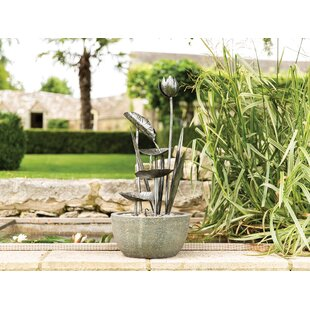 Bainton Resin Flower Water Feature By Sol 72 Outdoor