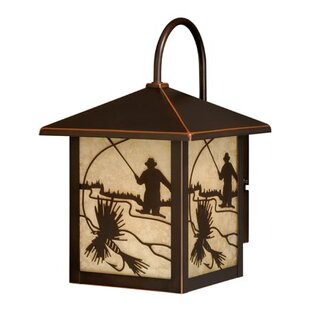Savings Pittview 1-Light Outdoor Wall Lantern By Loon Peak