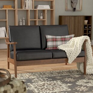Leaman Mid-Century Modern Loveseat by Millwood Pines Purchase