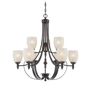 Darby Home Co Vanhorne 9-Light Shaded Chandelier