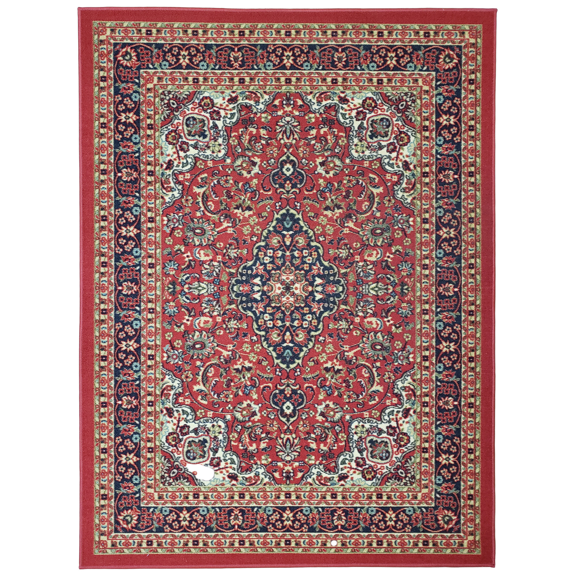 Traditional Fl Red Area Rug