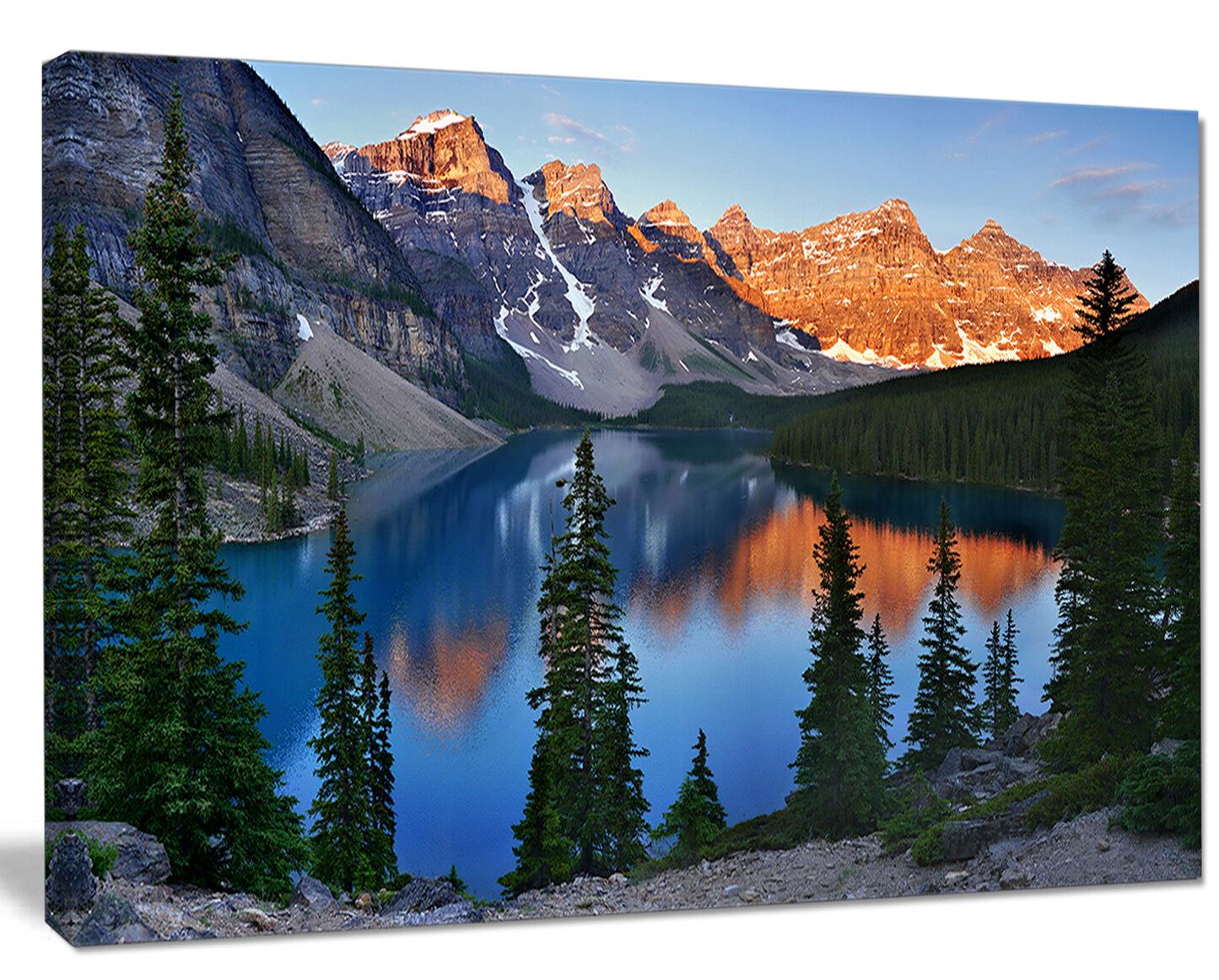 Designart Beautiful Moraine Lake Canada Photographic
