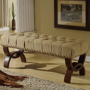 Compare prices Bowes Upholstered Bench By Charlton Home