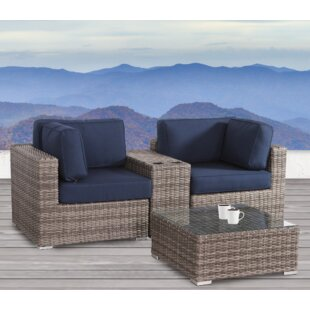 Jamesport 4 Piece Sunbrella Conversation Set with Cushions by Breakwater Bay