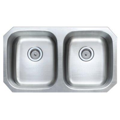 32 25 X 18 06 Double Basin Undermount Kitchen Sink