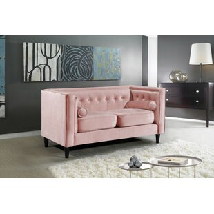 Blush Pink Loveseat