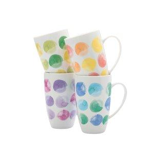 Color Drops Coffee Mug (Set of 4)