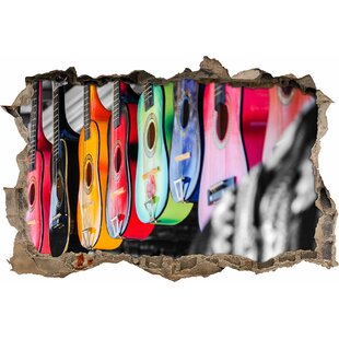 Colourful Guitars For Sale Wall Sticker By East Urban Home