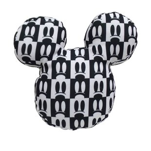 Mickey Shaped Mickey Eyes Print Indoor/Outdoor Throw Pillow