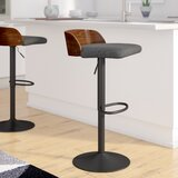 Rockaway Swivel Adjustable Height Bar Stool by Wade Logan®