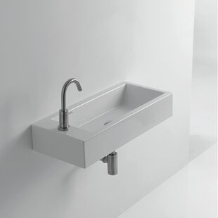 WS Bath Collections Whitestone Hox Ceramic 18