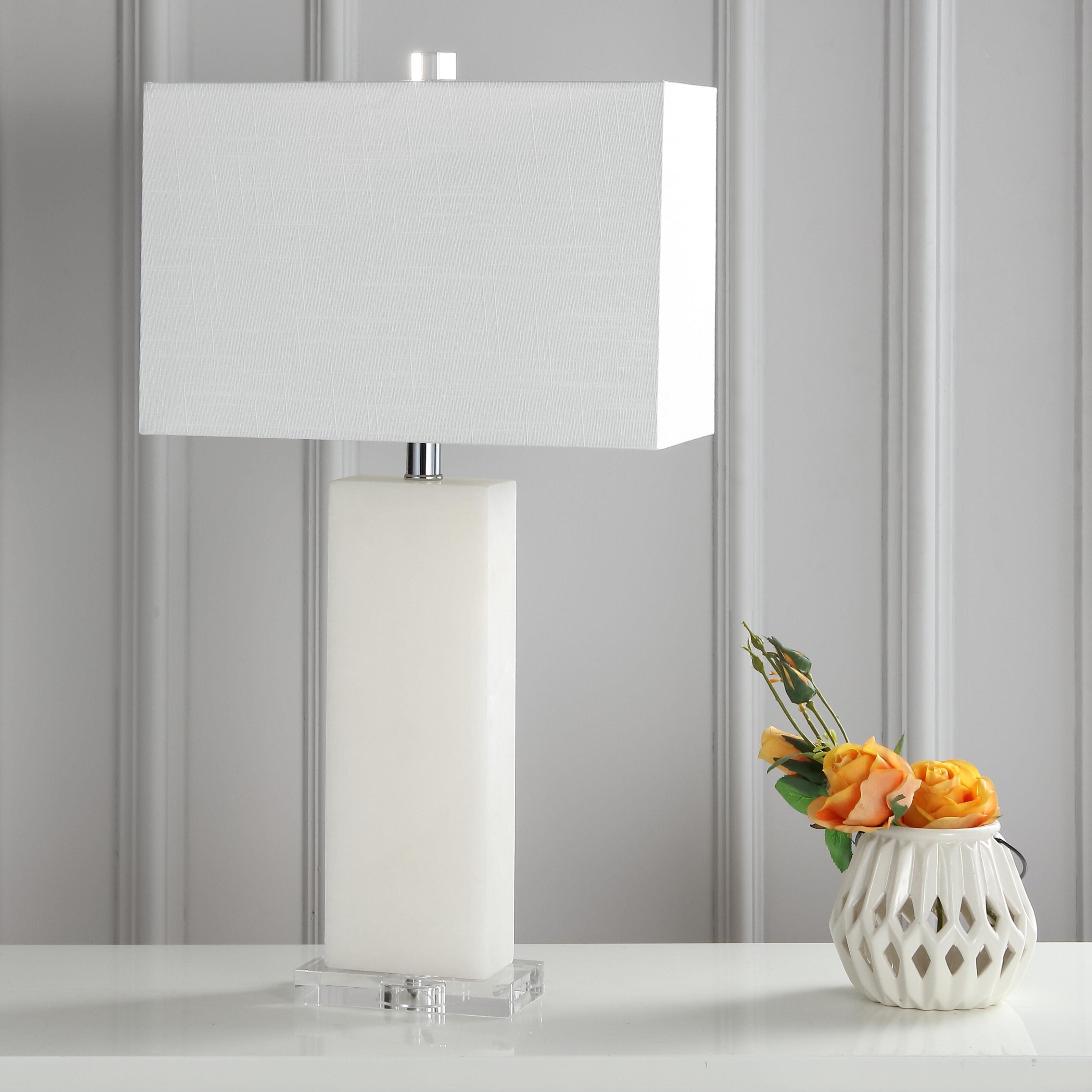Orren Ellis Holtz Alabaster 27 Table Lamp Reviews Wayfair