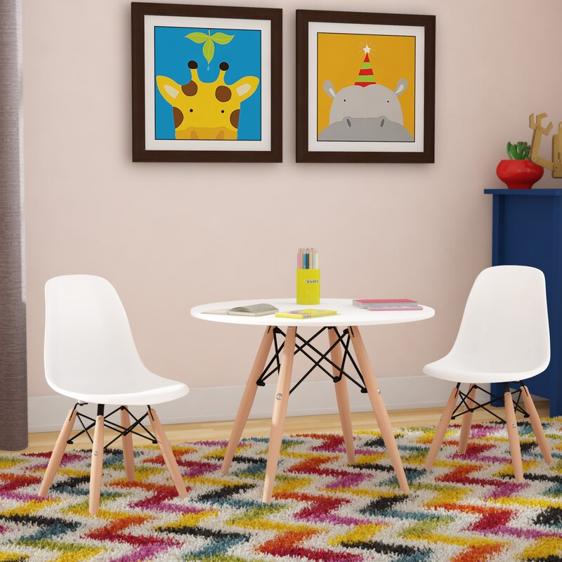 Harriet Bee Homer 3 Piece Round Table and Chair Set & Reviews | Wayfair