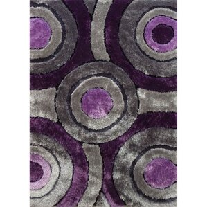 living shag purplegray rug