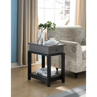 Julianna Wooden Chairside End Table
