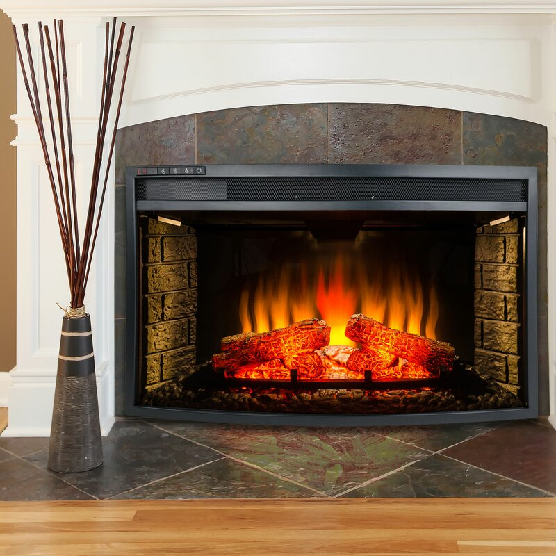 insert inserts regal heater fireplaces fireplace curved electric inch ventless flame p