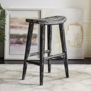 Goulaine Wood 24.2 Bar Stool Laurel Foundry Modern Farmhouse