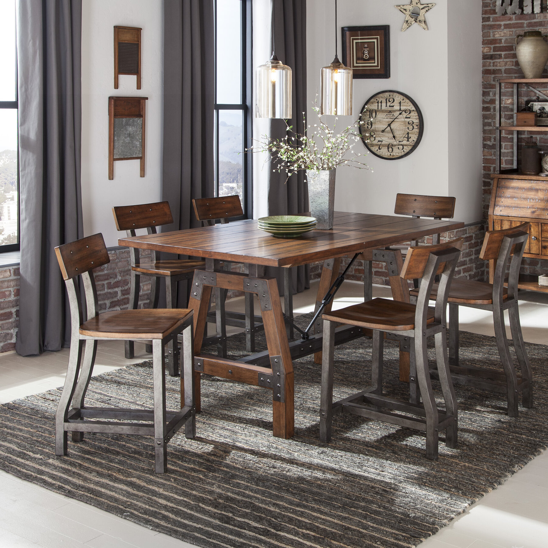 Millwood Pines Liam 7 Piece Counter Height Dining Set Reviews