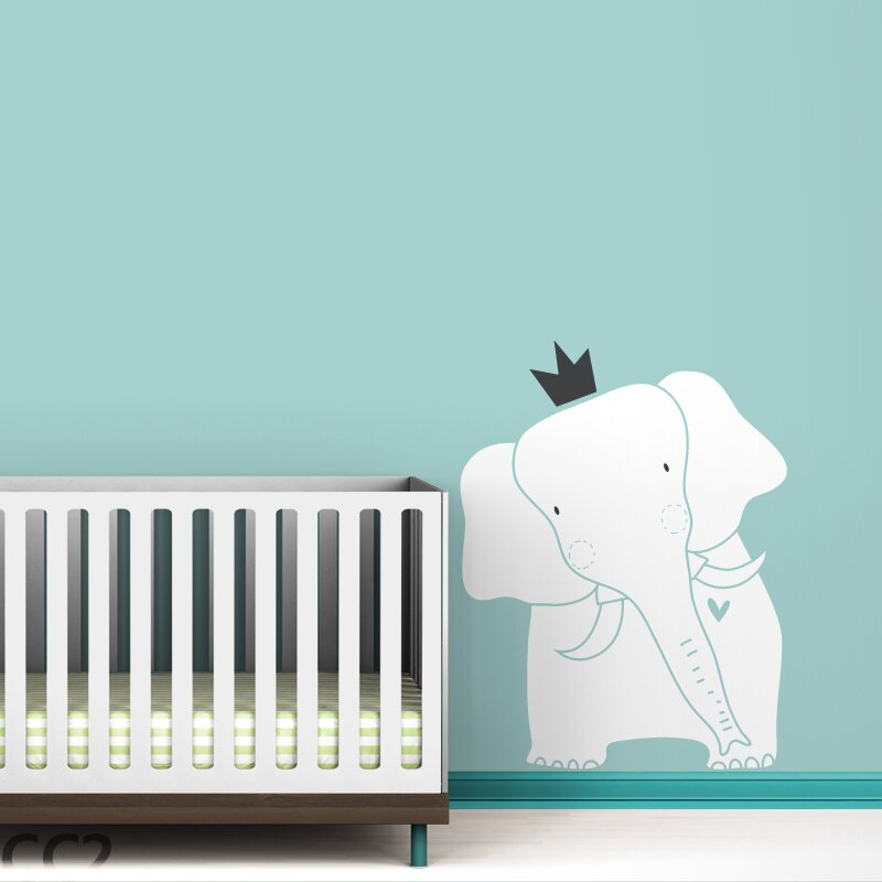 ... Baby Zoo King Elephant Wall Decal ... Part 82