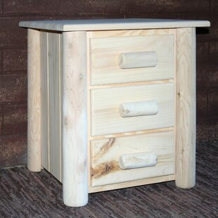 Read Reviews Frontier 3 Drawer Nightstand By Lakeland Mills