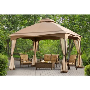 Sunjoy 12 Ft. W x 10 Ft. D Metal Patio Gazebo