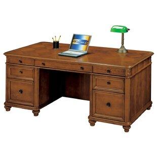Red Barrel Studio Buckeye Executive Desk with 7 Drawers