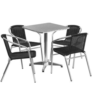 Komal 5 Piece Dining Set by Red Barrel St..