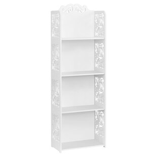 Bourassa 4-Tier Modular Cut-Out Wood Plastic Composite Standard Bookcase