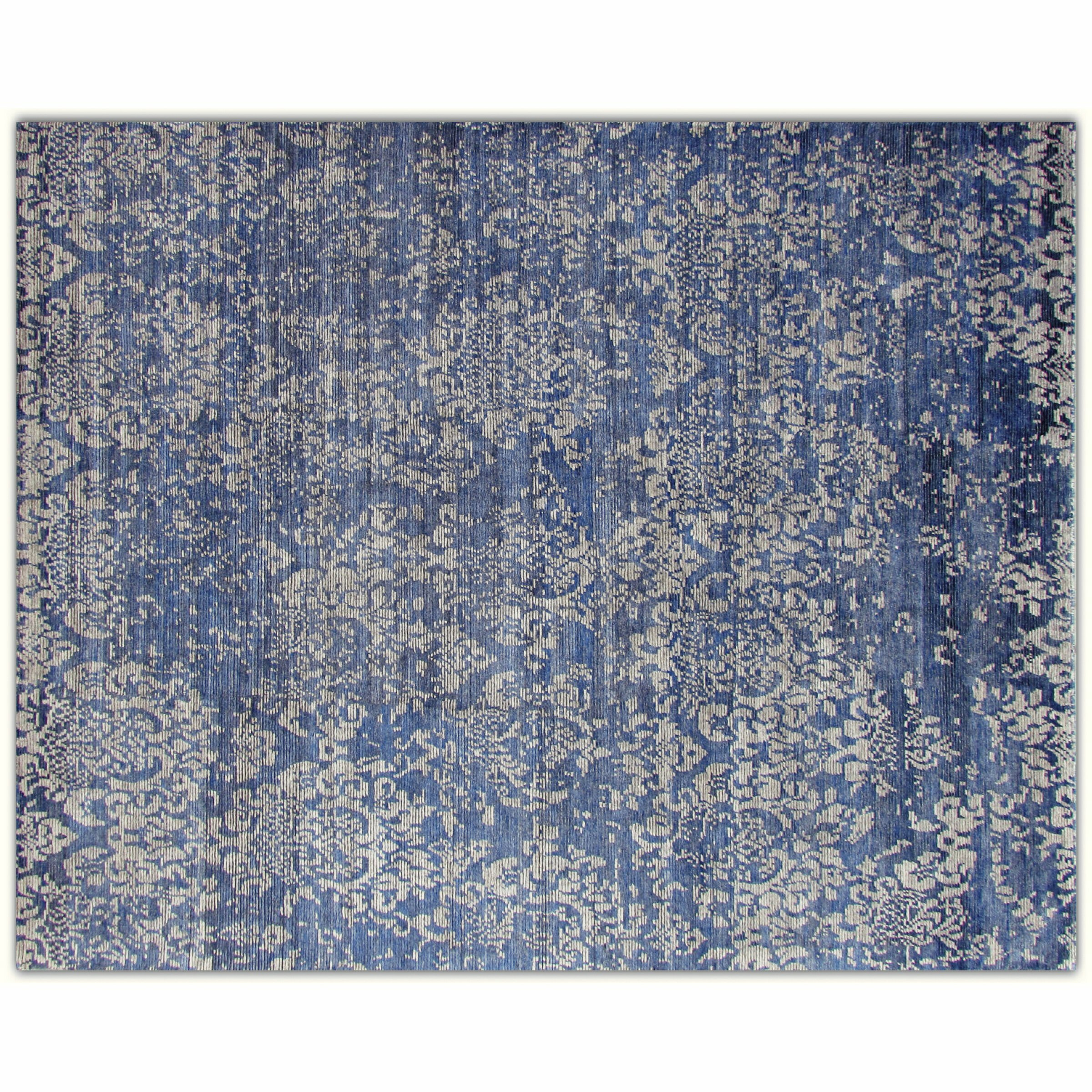Aga John Oriental Rugs One Of A Kind Hand Knotted Blue 11 9 X 14 11 Area Rug Wayfair