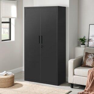 Tall Black Storage Cabinet Wayfair