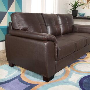 Curran Leather Sofa by Darby Home Co