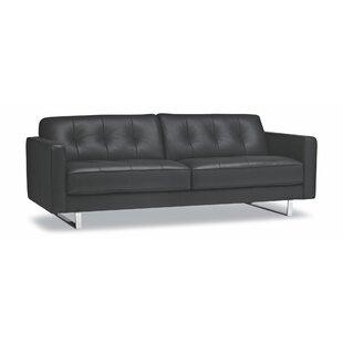 Mckittrick Leather Sofa Red Barrel Studio