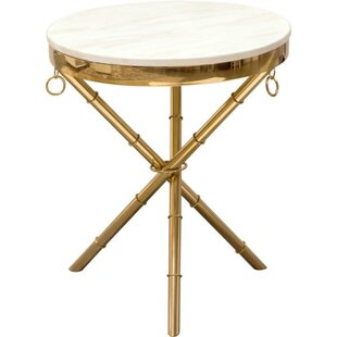 Winder Marble Top End Table by Everly Quinn