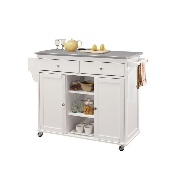 Hovland Kitchen Cart with Stainless Steel Top