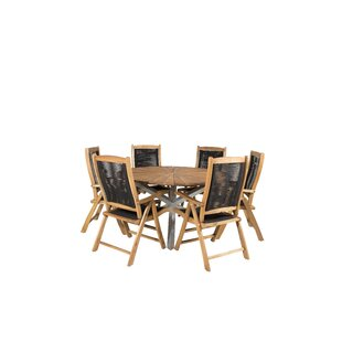 Hakon 6 Seater Dining Set By Sol 72 Outdoor