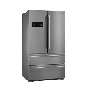 Stainless Steel 22 cu. ft. French Door Refrigerator with Ice Maker by SMEG