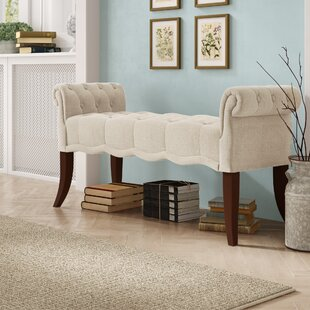 Ophelia & Co. Campbell Roll Arm Upholstered Bench