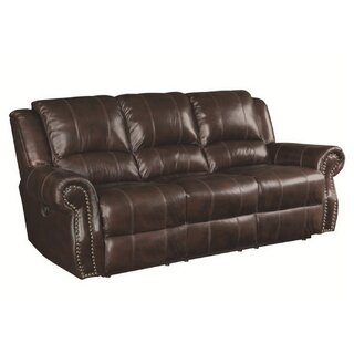 Algona Leather Reclining Sofa by Canora Grey SKU:AD123769 Description