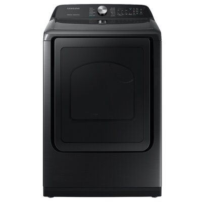 7.4 cu. ft. High Efficiency Electric Dryer with Steam Sanitize+ Samsung Color: Black Stainless Steel