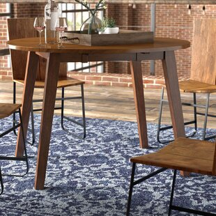 Caracara Round Dropleaf Extendable Dining Table Trent Austin Design