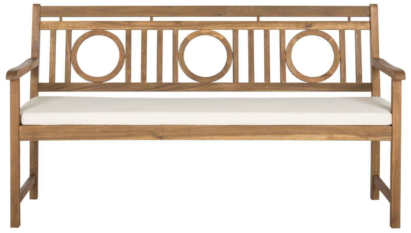 Darby Home Co Kuhlmann 3 Seat Acacia Garden Bench & Reviews   Wayfair