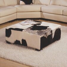Mercedes Leather Tavolo Ottoman by Omnia Leather