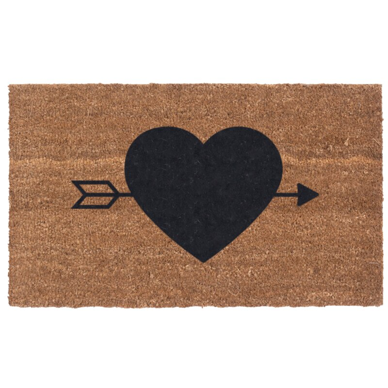 Heart N' Arrow Door Mat