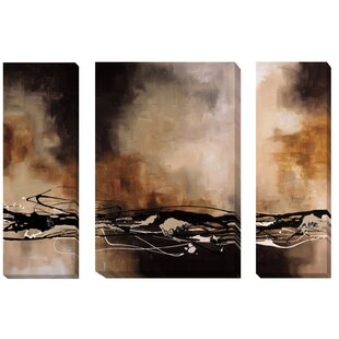 3 piece canvas paintings square tobacco and chocolate i ii iii by laurie maitland piece painting print on wrapped canvas set wall art youll love wayfair