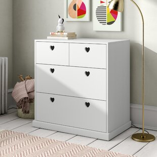 Love Hearts 4 Drawer Chest