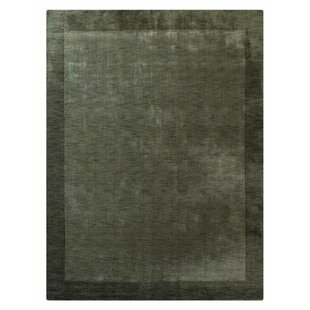 Ry Hand Knotted Wool Green Area Rug