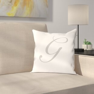 Bradley Personalized Script Initial Throw Pillow